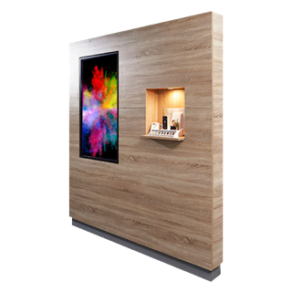 Medienwand mit Digital Signage Touch Display